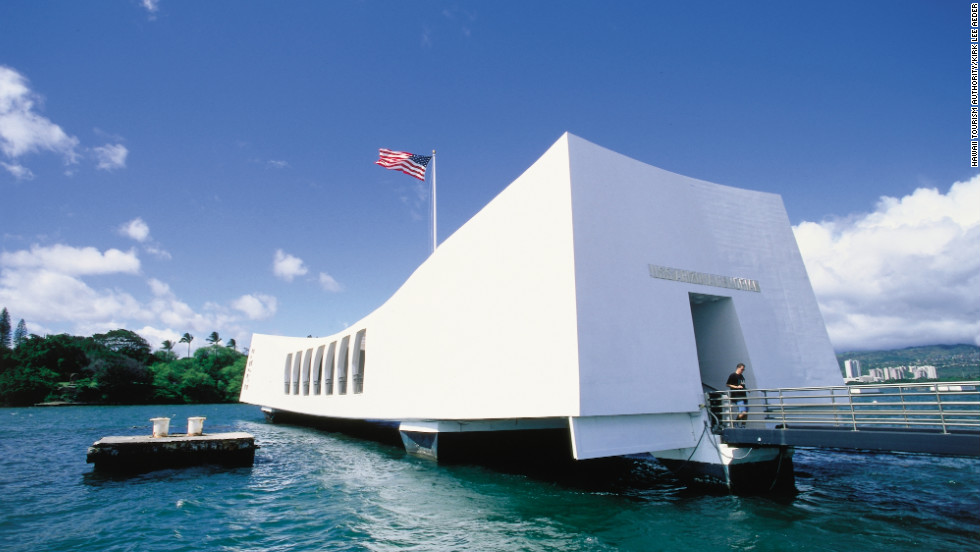 The USS Arizona Memorial in Pearl Harbor pays tribute to the 1,177 crewmen who lost their lives in the December 7, 1941 attack.