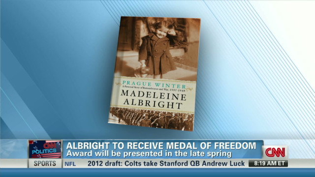 Albright 'honored' by Medal of Freedom