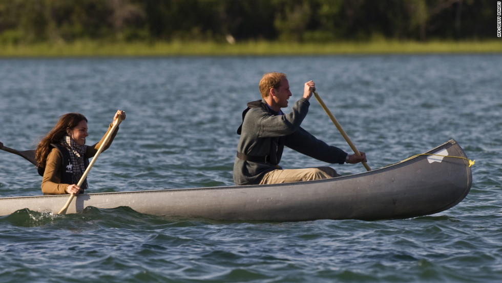 The royal couple's Canada trip included canoeing on Blatchford Lake.