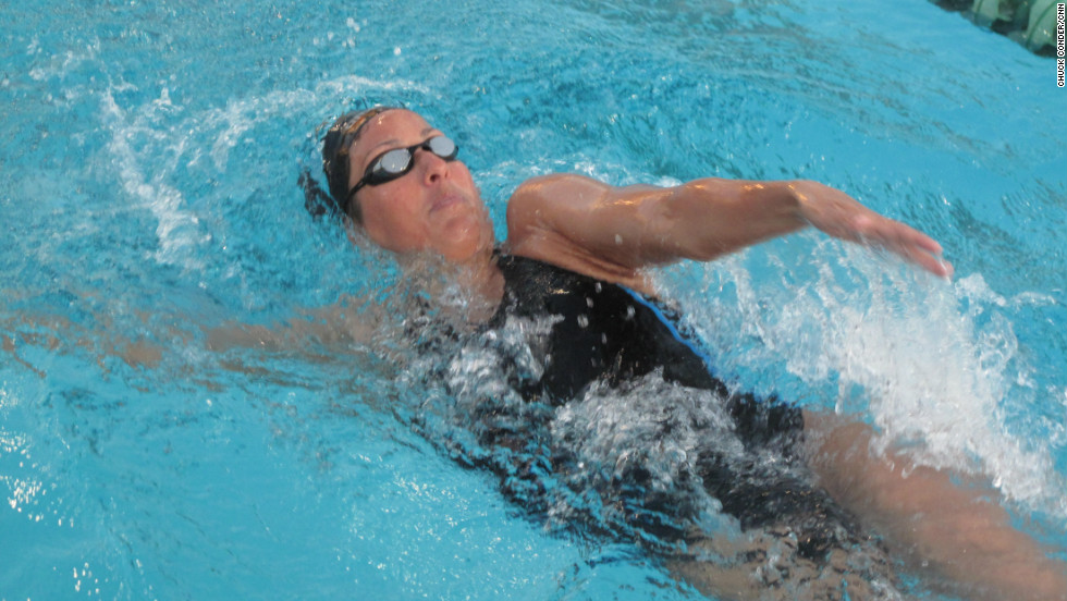 Four-time Olympic gold medallist Janet Evans has returned to the pool in the hope of once again qualifying for the U.S. team. It will be a big ask for the 40-year-old, who retired from competitive swimming 15 years ago.