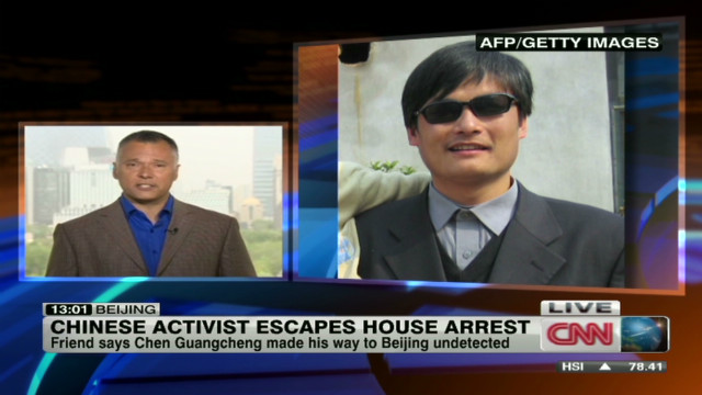 Chinese activist escapes house arrest