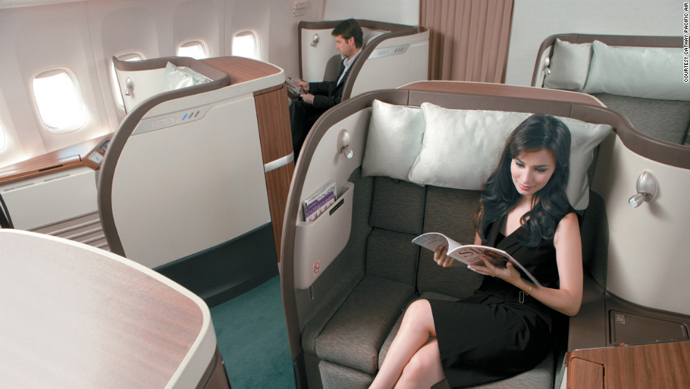 Cathay Pacific has won world airline of the year several times. The Hong Kong-based airline lives up to its reputation with its scrumptious meals and comfortable seats across classes.