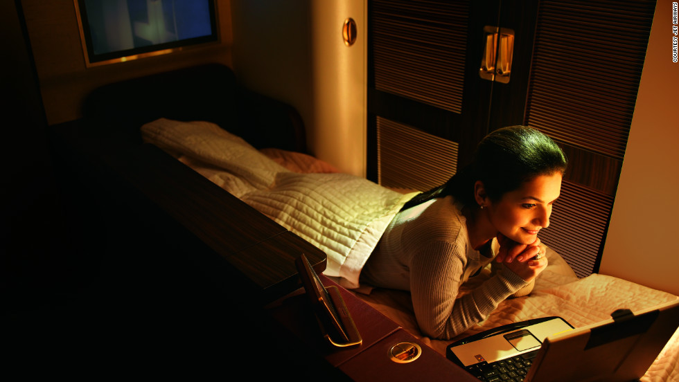 The eight first-class suites aboard Jet Airways' fleet of 777s offer passengers 26 square feet of private space with its own personal light settings.