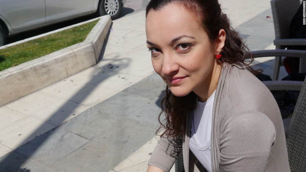 """Pepi Spiliotopoulou, owner and editor of Filodimos newspaper and Radio Egio, photographed on April 1, 2012. """"Angeliki was sacrificed for a good future,"""" she says. """"But the better future never came."""""""