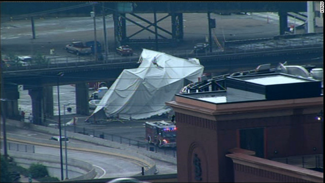 Weather blamed for tent collapse