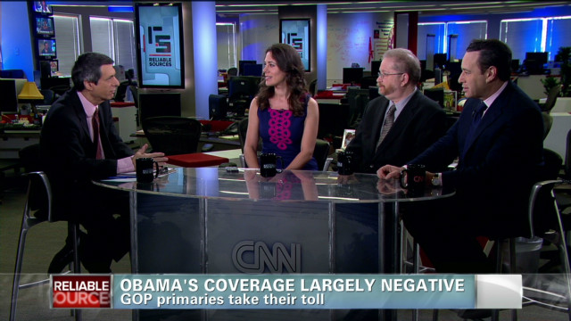 Coverage of Obama largely negative
