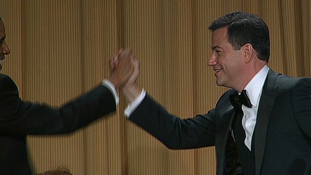 Obama, Kimmel deliver on dinner jokes