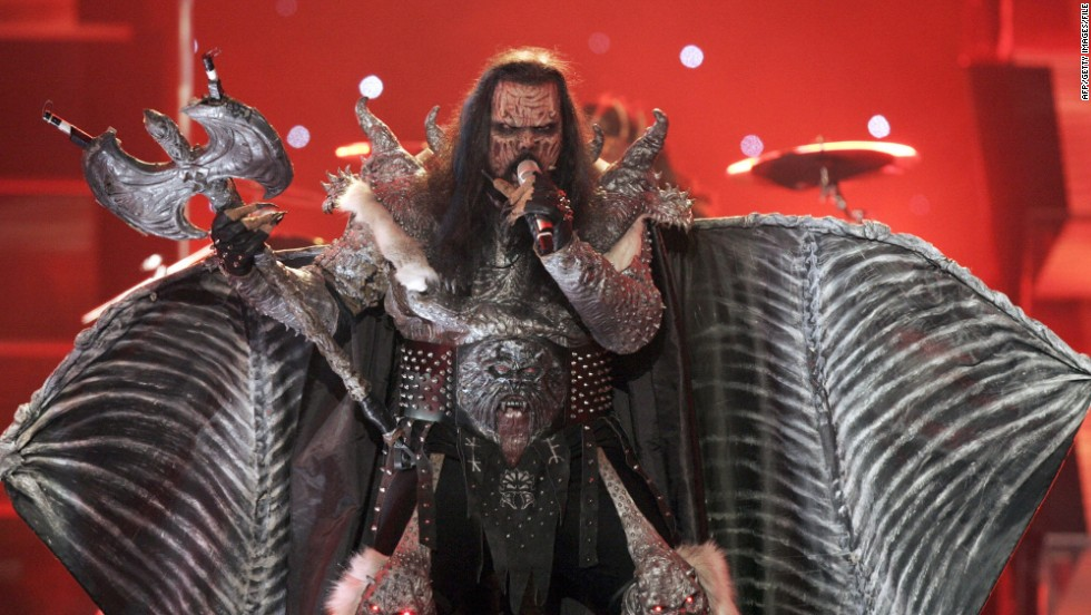 "Monster masks, flaming axes, rotting flesh -- Finland's 2006 entry had it all. The metal band Lordi smashed all previous voting records to become the first rock band to win Eurovision with the song ""Hard Rock Hallelujah."""