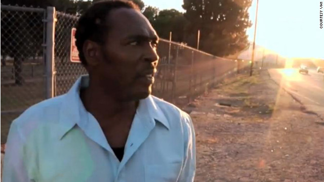 "In the VH1 film ""Uprising,"" Rodney King revisits the site where Los Angeles police officers beat him up in 1991."