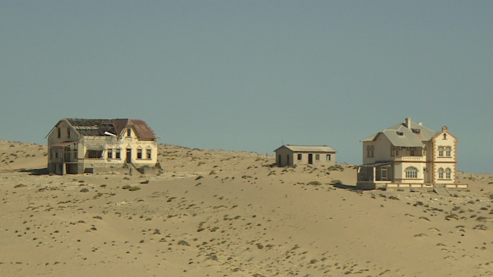 Today a ghost town, Kolmanskop was once a booming diamond rush settlement in the unforgiving Namib desert, present-day Namibia.