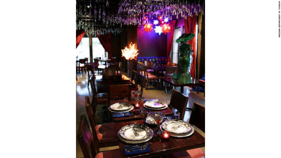 When you're finished gallery hopping in Tubac, head to Elvira's restaurant, which was established in 1927 in Nogales, Mexico, and reopened in Tubac.