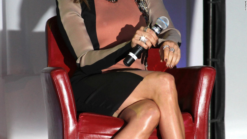 Jennifer Lopez speaks at a press conference in Hollywood.