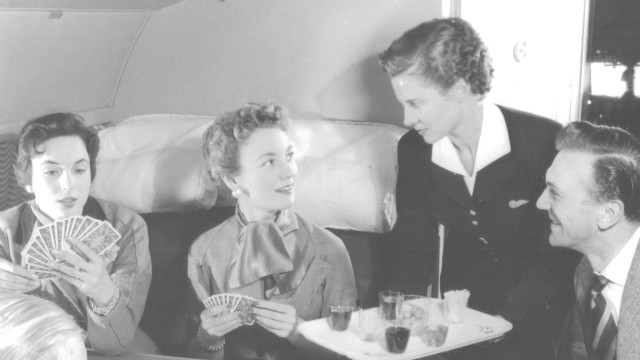 85 years of airline meals
