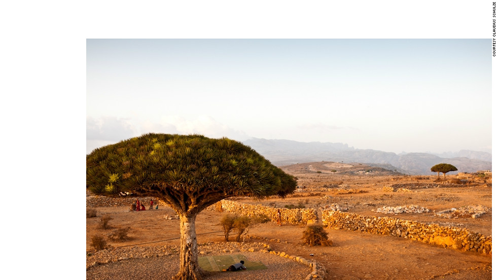 German photographer Claudius Schulze traveled to the mysterious archipelago of Socotra. Pictured, distinctive Dragon Blood Trees, native only to Socotra.