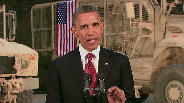 President Obama speaks Tuesday from Afghanistan about the war and the U.S. future involvement in the country.