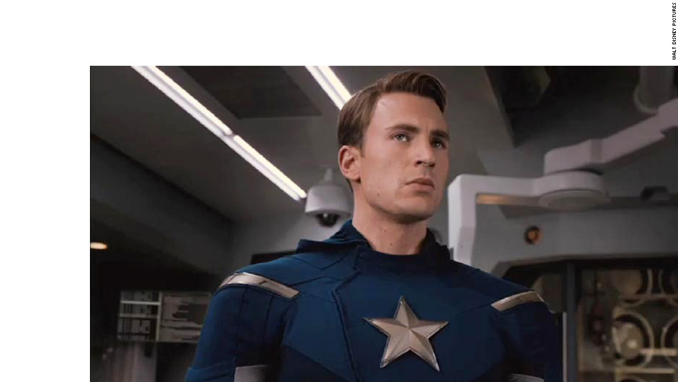 """Chris Evans first donned red, white and blue for 2011's """"Captain America: The First Avenger."""" He continues his fight against evil in """"The Avengers."""""""