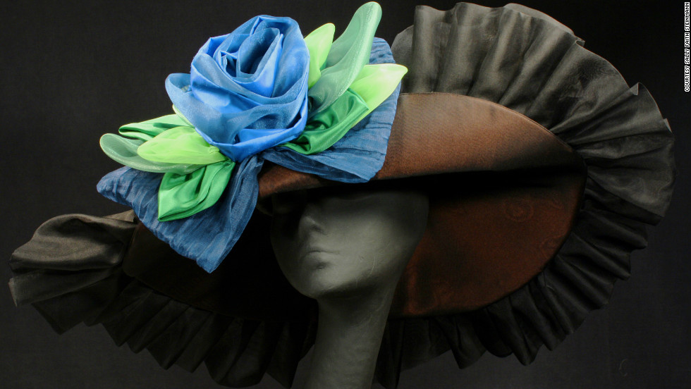 """You may not be able to spot every single hat at the Derby, but four milliners shared their custom designs with us. Sally Faith Steinmann of<a href=""""http://www.maggiemae.com/"""" target=""""_blank""""> Maggie Mae Designs</a> created this hat in honor of Arson Squad, a retired race horse, who belongs to the <a href=""""http://www.oldfriendsequine.org/"""" target=""""_blank"""">Old Friends of Kentucky</a>, a facility for retired thoroughbreds. The hat was auctioned to raise money and awareness for the foundation. Steinmann's love of horses inspires her designs."""