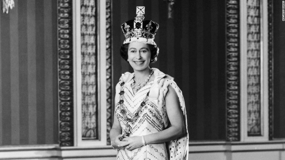 An official photograph taken of Queen Elizabeth in 1977 -- the year of her silver jubilee.