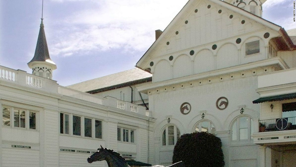 A statue of the first horse to win the derby, Aristides in 1875, now stands at Churchill Downs. African-Americans have played an integral role in the history of the race, with the first won by  jockey Oliver Lewis and  trainer Ansel Williamson, who was a freed slave.