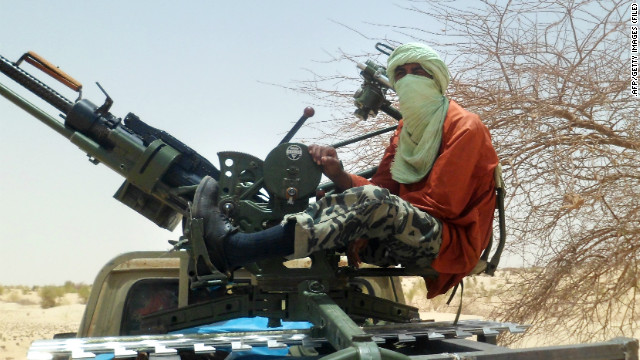 An Islamist rebel is pictured on April 24, 2012 near Timbuktu, in rebel-held northern Mali.