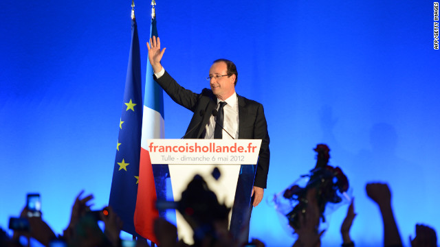 François Hollande thanks supporters