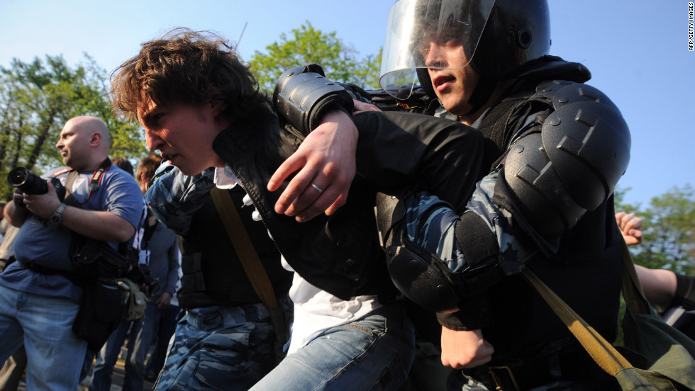 More than 250 people were arrested, Moscow police said.