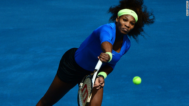 Serena Williams breezed into the second round of the Madrid Masters with a straight sets victory over Elena Vesnina
