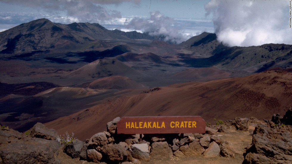The state is made up of volcanic islands. Many tourists gather on the summit of Haleakala in Maui to watch the sun rise.