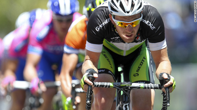 Australia's Matthew Goss won the third stage of the Giro d'Italia for the Orica GreenEdge team