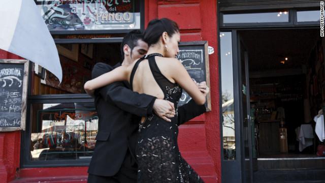 Tango in Caminito Street.