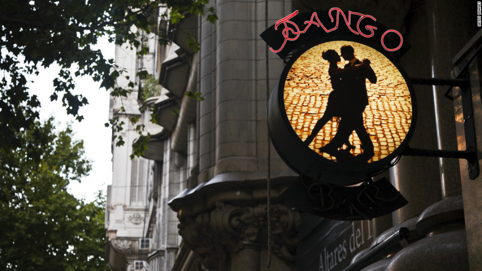 """Despite a brief stint in the 60s, when young locals began to favour the imported sounds of rock music, tango has remained unstoppably popular in the city of its birth. Today, tango bars (known as """"milongas"""") pack the avenues and boulevards."""