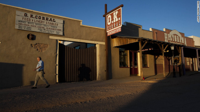Wyatt Earp and Doc Holliday were in a famous gunfight with outlaw cowboys at Tombstone's O.K. Corral in 1881.