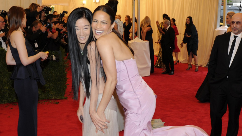 Vera Wang and Paula Patton