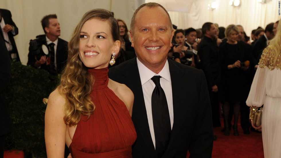 Hilary Swank and Michael Kors