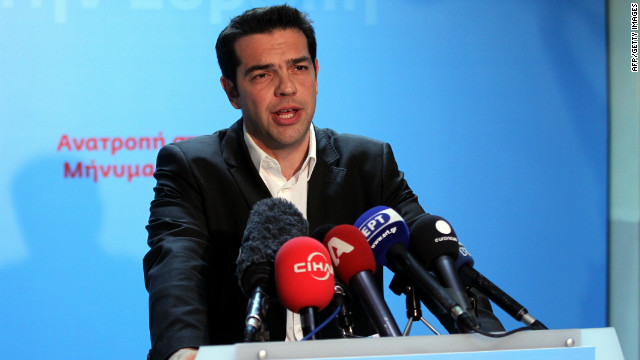 The head of Greece's Syriza party Alexis Tsipras has three days to form a coalition after Sunday's Greek election.