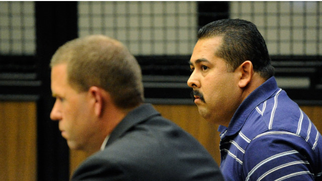 Manuel Ramos, right, and Jay Patrick Cicinelli appear at their arraignment in September.