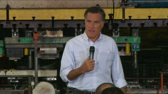 Romney hammers President Obama on jobs