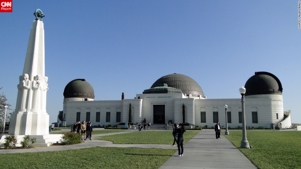 """From the beaches, to the mountains, to the deserts, to the sea ... Can NYC have a chance to beat me?"" wonders iReporter Allen Mealey, who shared this photo of the Griffith Observatory."