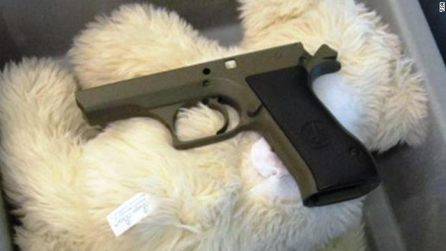 Officers detected disassembled firearm