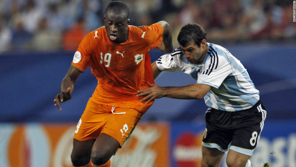 Toure played in the Ivory Coast's first World Cup in 2006, and also appeared at the 2010 tournament. He suffered defeat in final of the 2012 Africa Cup of Nations, and his six-week absence was crucial to City's loss of form.