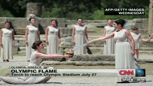 Olympic torch relay begins in Greece