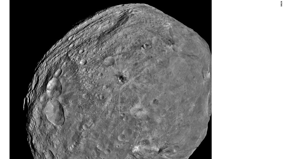 "NASA's Dawn spacecraft obtained images of asteroid Vesta, which, in 2012, was declared a ""protoplanet."""