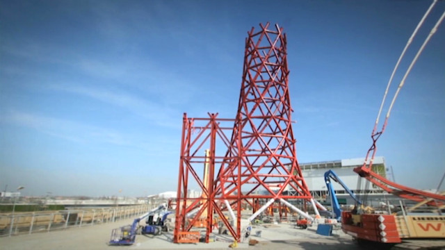 Watch London's Olympic tower rise