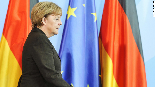 German Chancellor  Angela Merkel's government signals its concern about ECB bond buying.