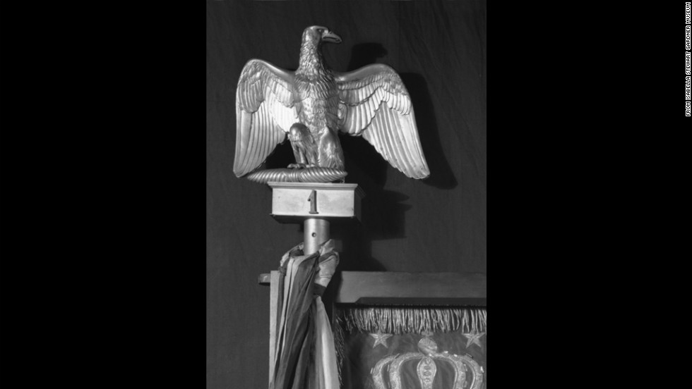 Finial in the form of an eagle, gilt metal (bronze), French