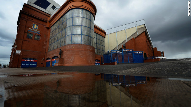 The famous Ibrox stadium which home to Glasgow giants Rangers.