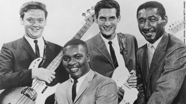 "Bassist Donald ""Duck"" Dunn, left, played in the influential soul band Booker T. and the MGs, pictured circa 1965."