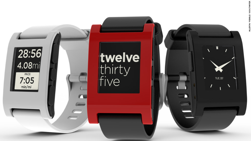 Pebble was a Kickstarter sensation and played a big role in getting the tech world excited about smartwatches. Models sell for around $150.