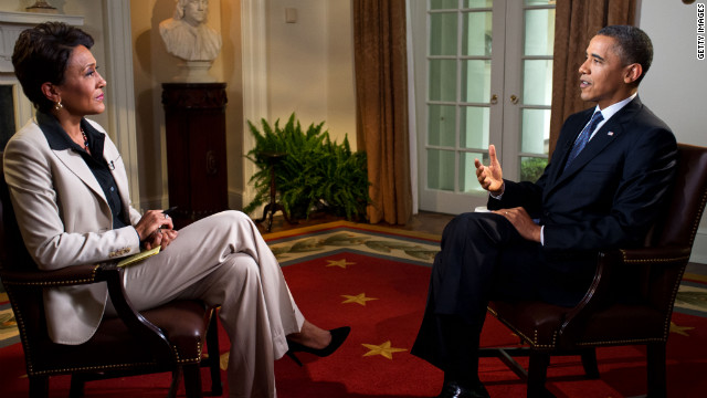 "President Barack Obama tells Robin Roberts of ABC's ""Good Morning America"" on May 9 that he supports same-sex marriage."