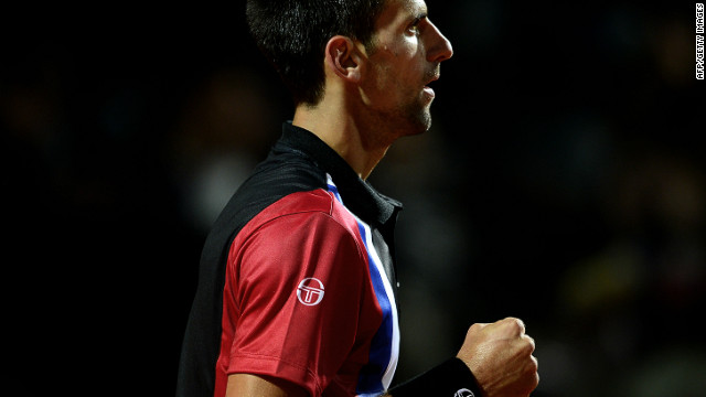 Novak Djokovic was in a hurry to close out victory against Bernard Tomic in Rome.